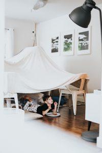 children in a den
