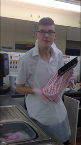 Jordan in his supported internships